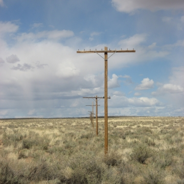 Historic Rt 66 through Petrified Forest N.P.- Looking East